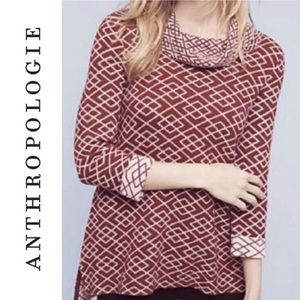 Anthropologie Moth Cranberry Red Alpaca Sweater